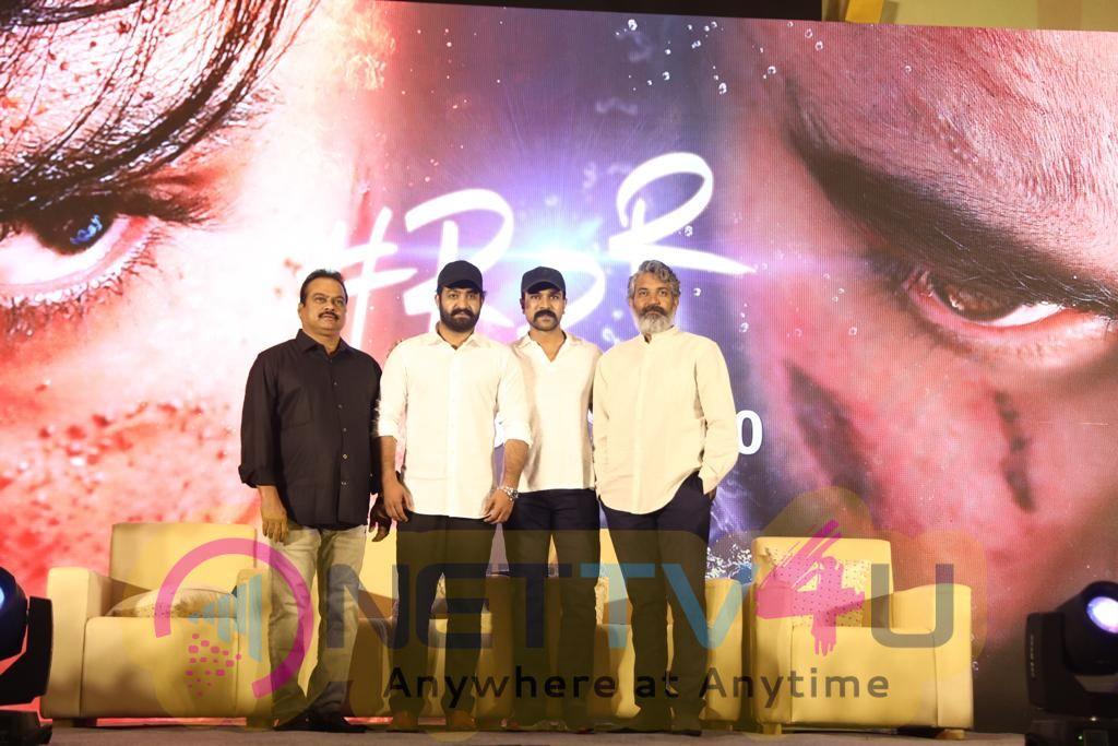 RRR Movie Press Meet Pics Telugu Gallery