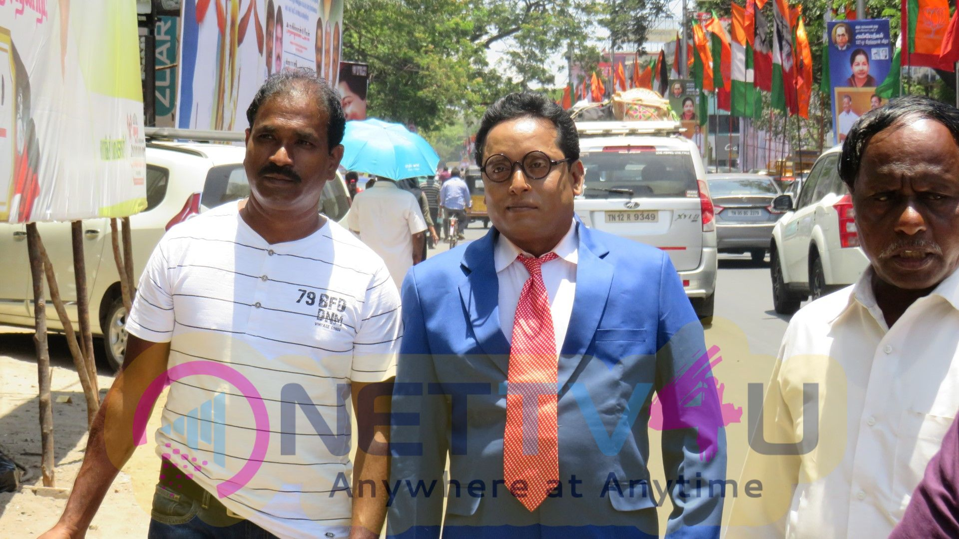 'A Film'Team Paid Respect To Ambedkar Statue Images