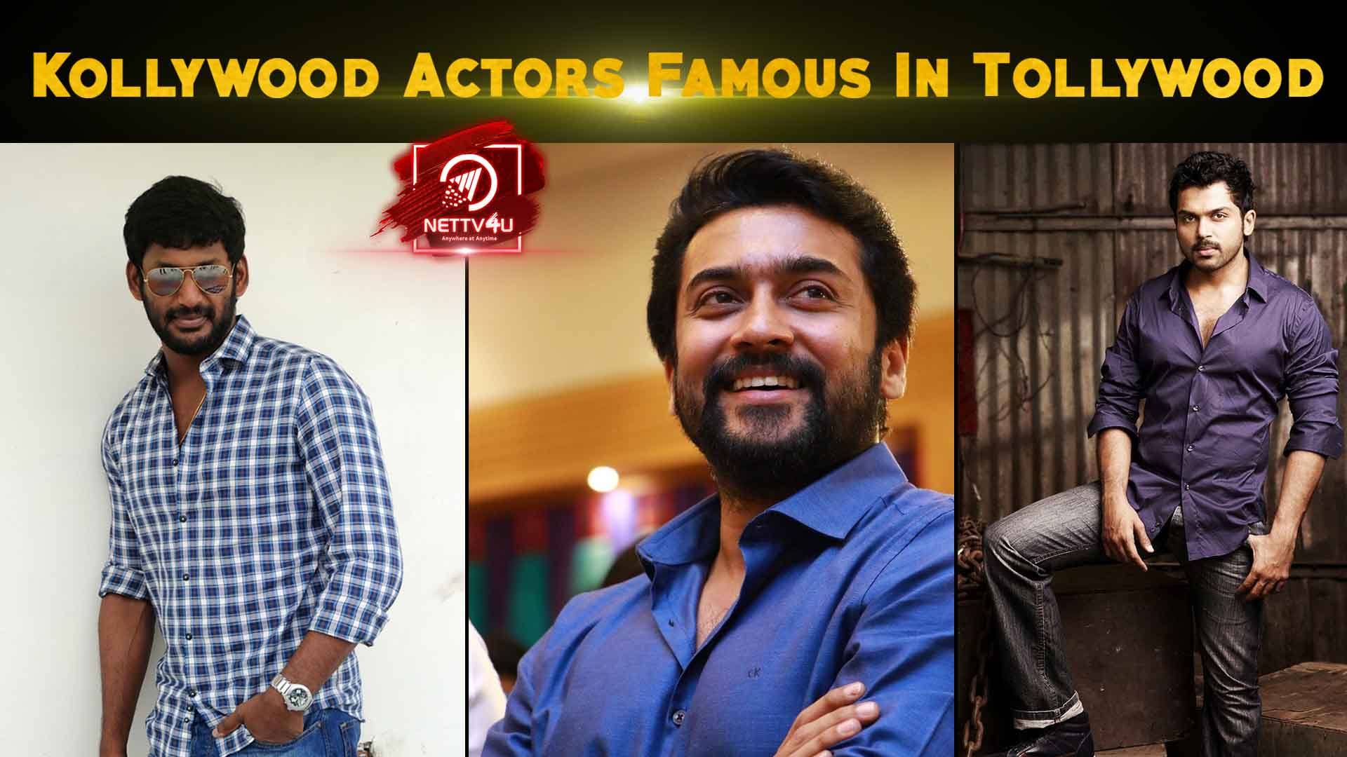 Kollywood Actors Famous In Tollywood