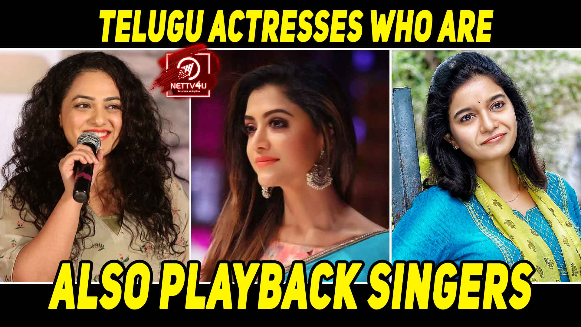 Tollywood Actresses And Their Excellent Singing Talent   Latest