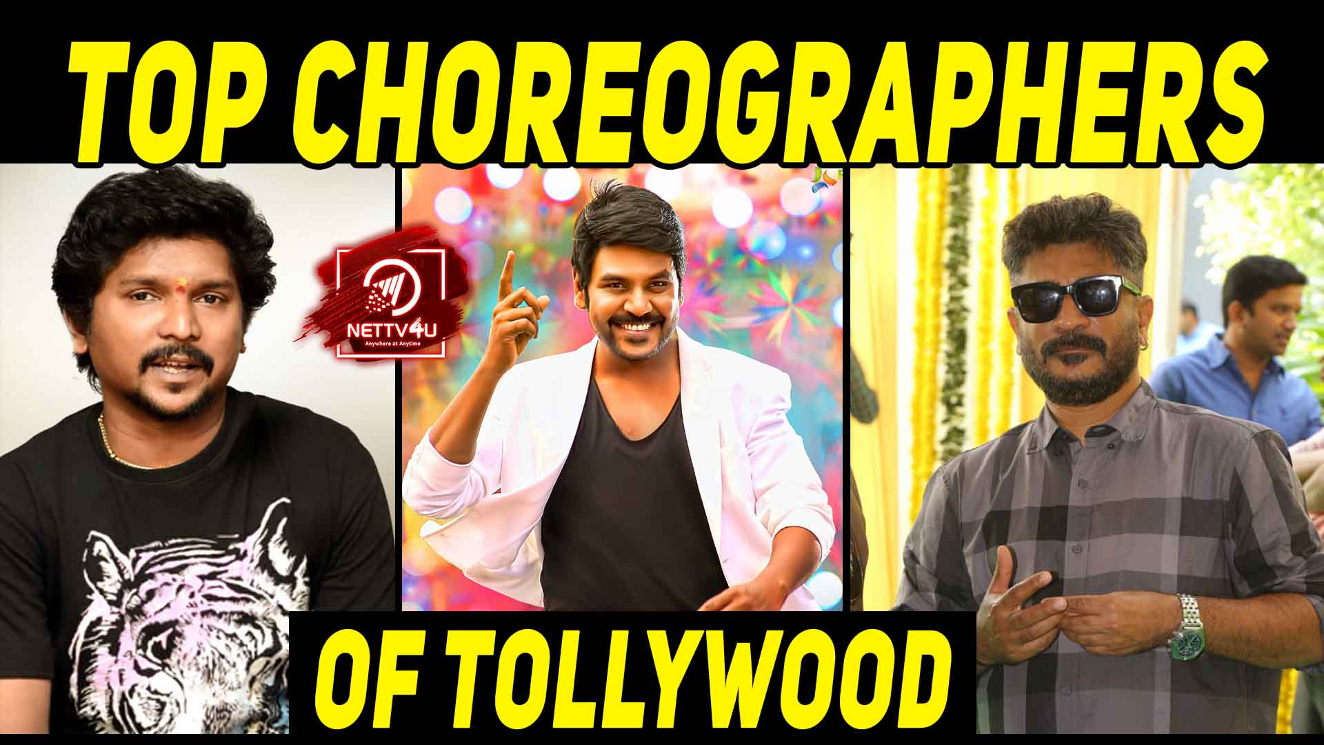 Top Choreographers Of Tollywood