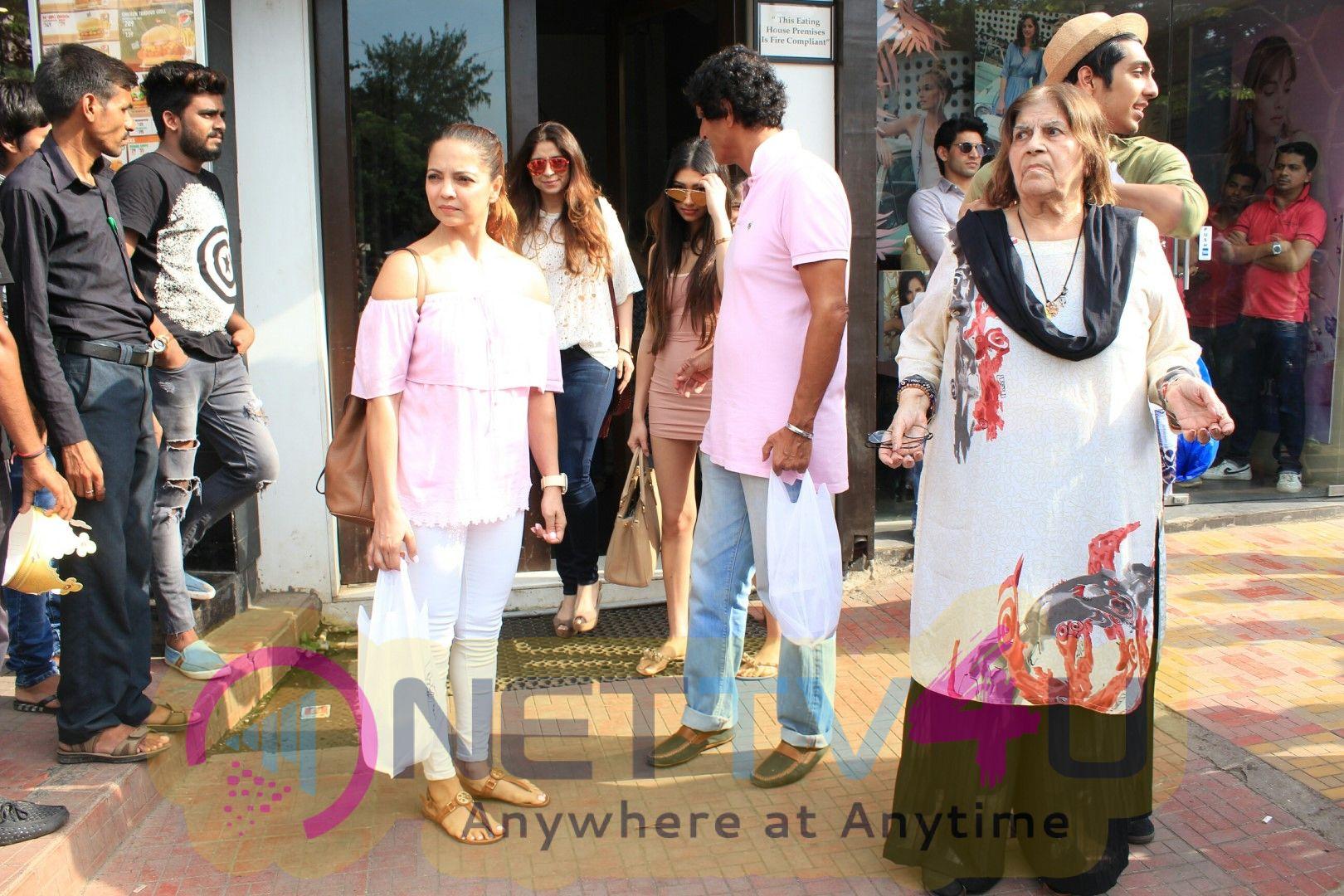 Ananya Panday, Ahan Panday,Chunky Pandey And Family Spotted At Bandra Images