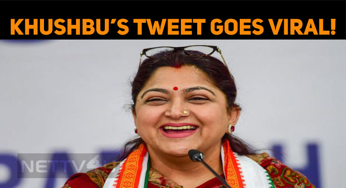 Khushbu's Reentry Tweet Goes Viral!