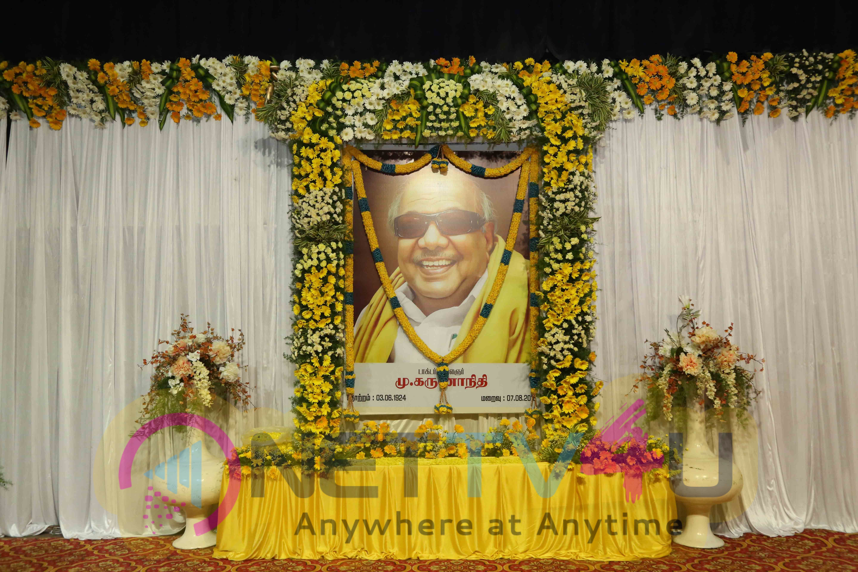 Tamil Film Industry Pays Homage To Kalaignar Karunanidhi With Memorial Gathering Photos Tamil Gallery