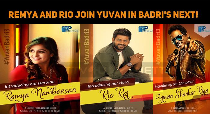 Remya Nambeesan And Rio Raj In Badri's Next!