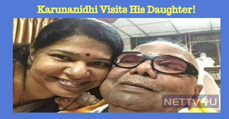 Karunanidhi Visits His Daughter!
