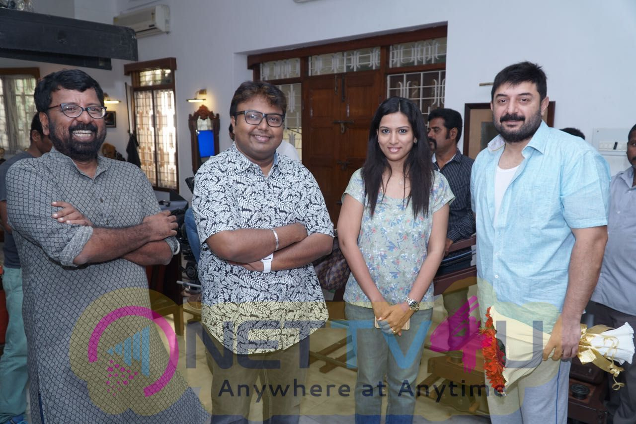 Arvind Swamy & Ritika Singh New Film Pooja Stills