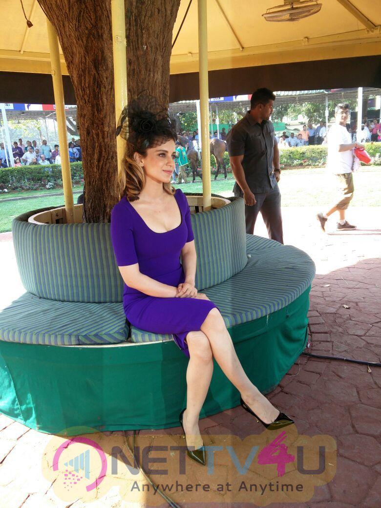 Kangana Ranaut At The Derby Attractive Stills