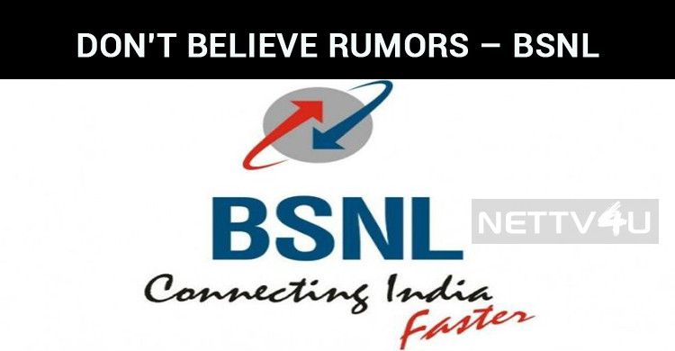 Don't Believe Rumors – BSNL