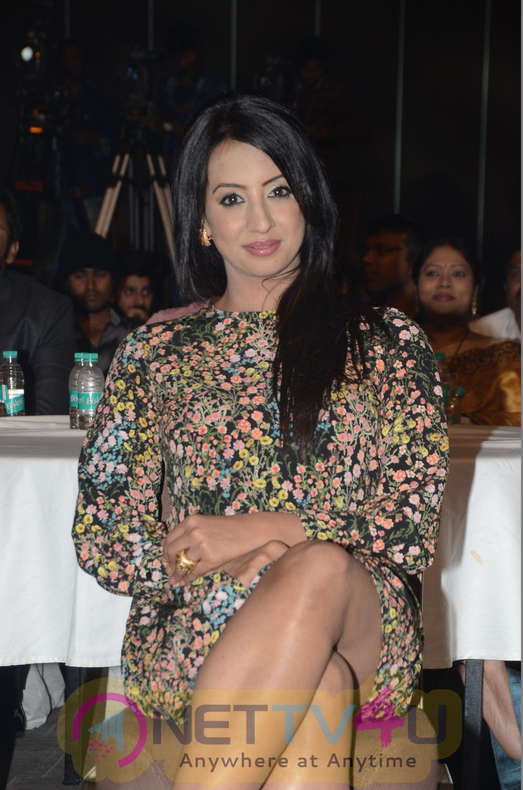 Actress Sanjana Stunning Pics At Rogue Audio Launch