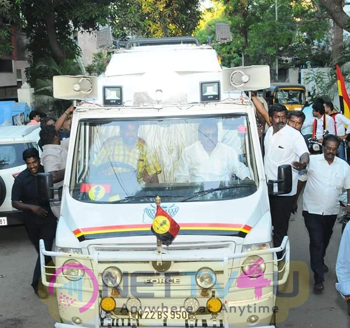 Captain Vijayakanth Go For Election Campaign Stills