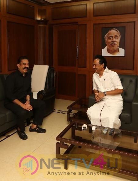 Mr Kamal Haasan's Meeting With M. K. Stalin Pics Tamil Gallery