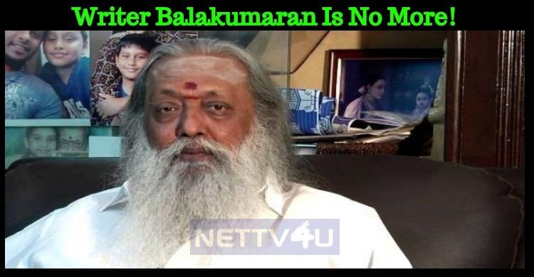 Writer Balakumaran Is No More!