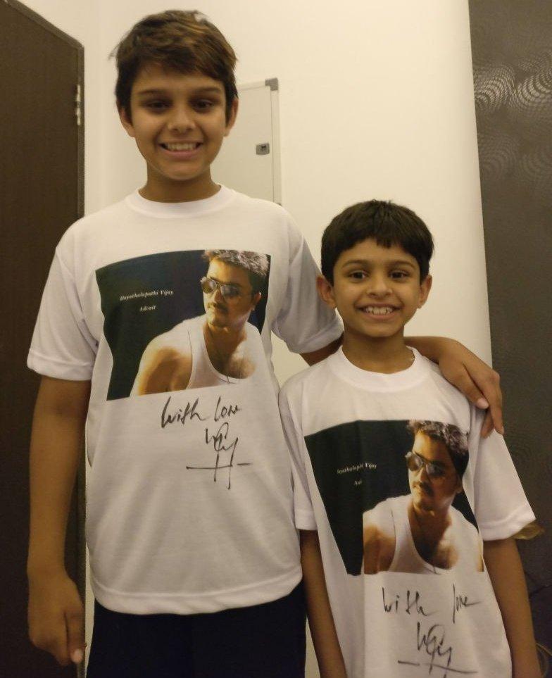 Vijay's Gift To Arun Vaidyanathan's Sons!