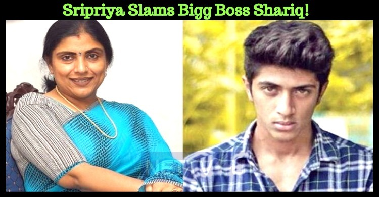 Sripriya Slams Bigg Boss Shariq!