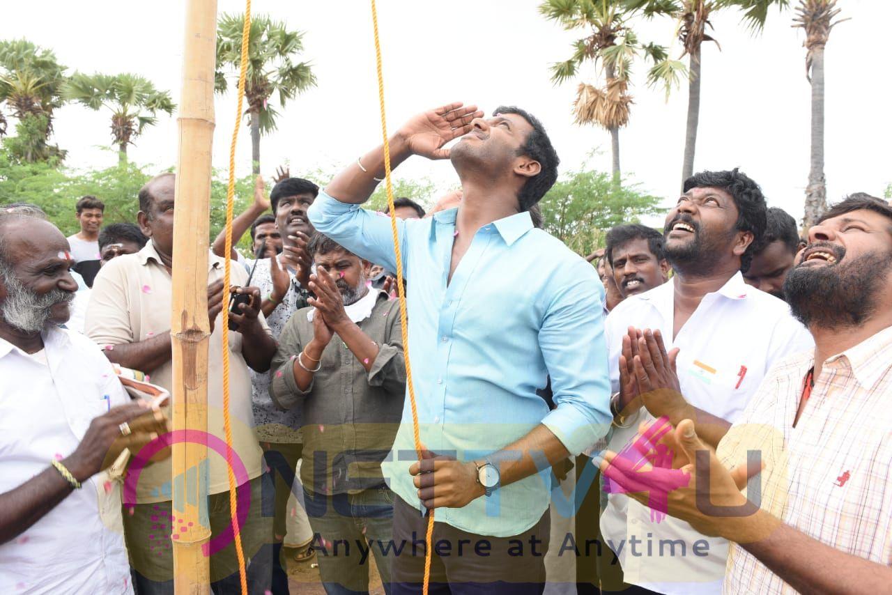 Vishal Celebrated Independence Day At Sandakozhi 2 Sets Stills