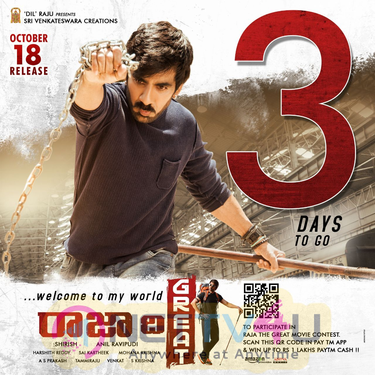Raja The Great Movie 3 Days To Go Poster