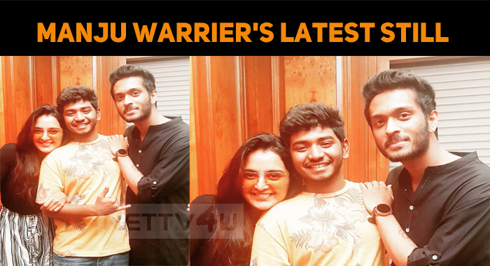 Manju Warrier's Latest Still With Her On Screen..