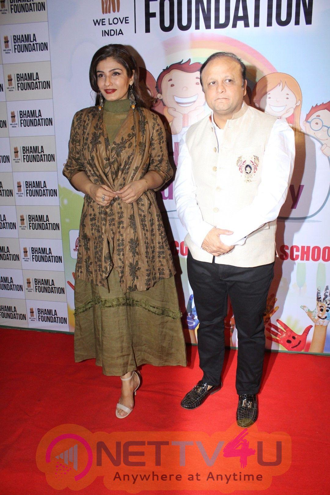Raveena Tandon At Bhamla Foundation Host Children's Day Celebration With Physically Disabled Kids Stills