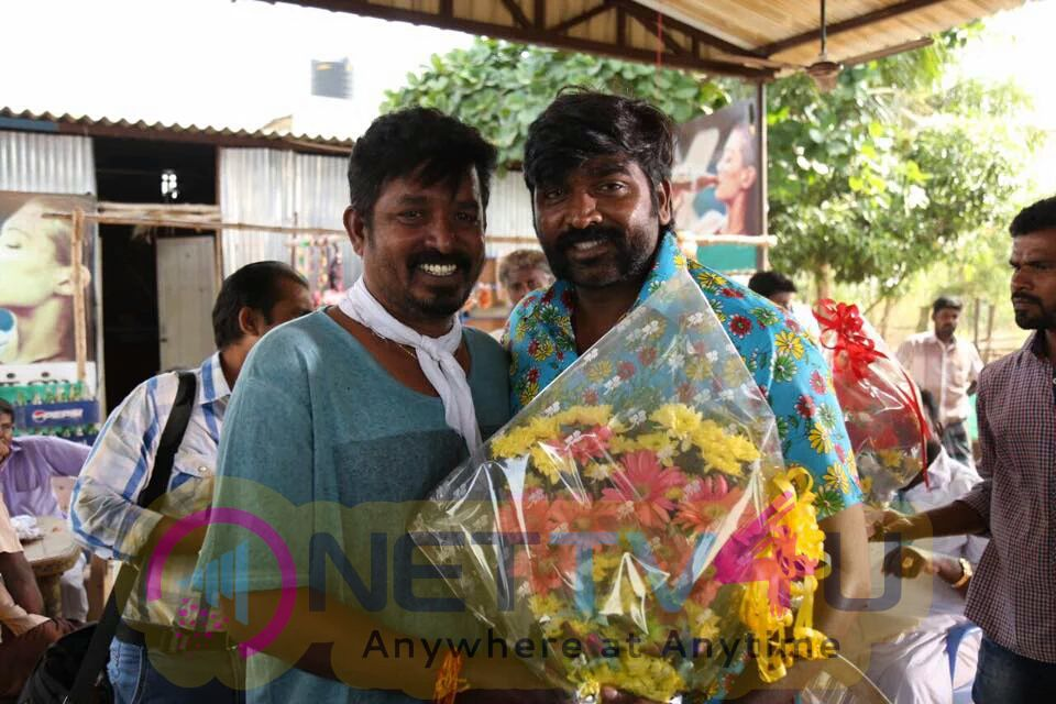 Actor VijaySethupathi Birthday Celebration At Karuppan Movie Spot Stills