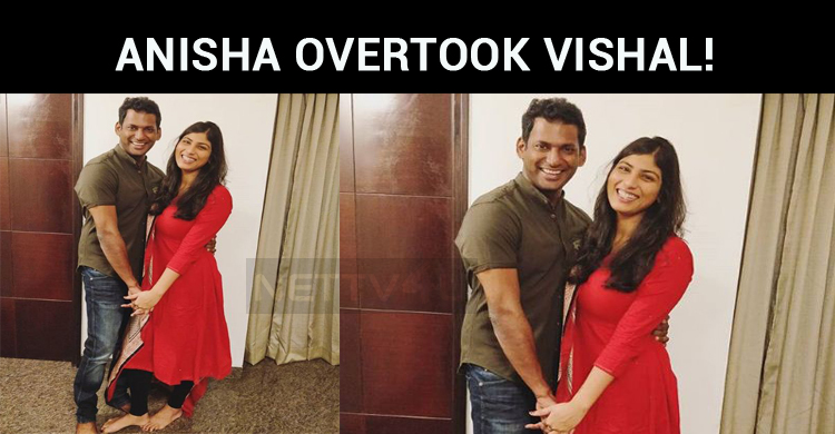 Anisha Overtook Vishal!
