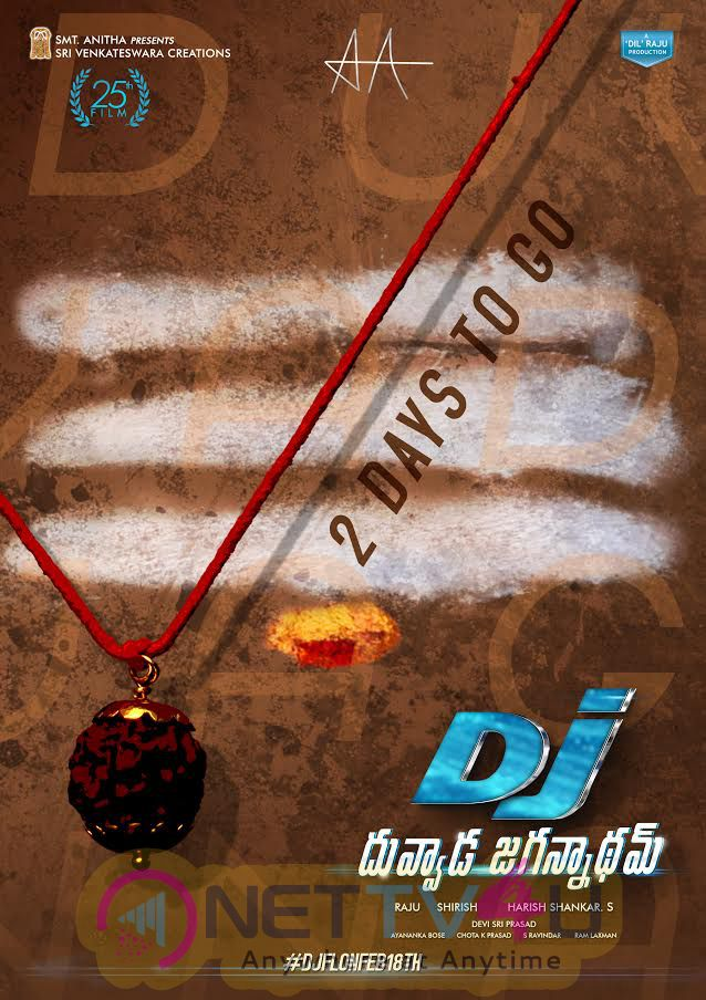 Duvvada Jagannadham Telugu Movie 2 Days To Go Poster