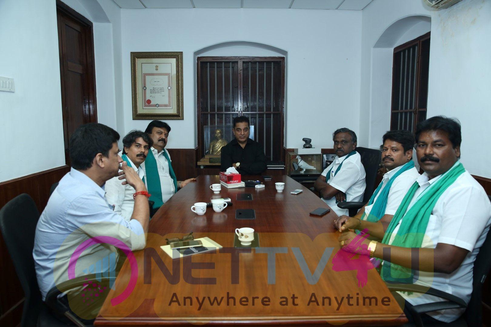 Arjun Sampath Meets Kamal Haasan Photos