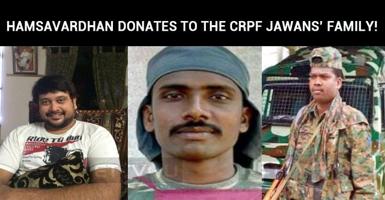 Hamsavardhan Donates A Lump Sum To The CRPF Jaw..