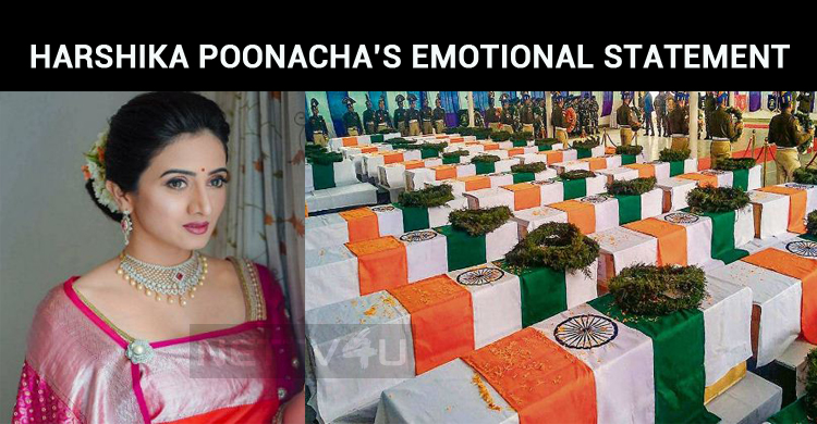 Harshika Poonacha's Emotional Statement About The Terrorist Attack On CRPF!