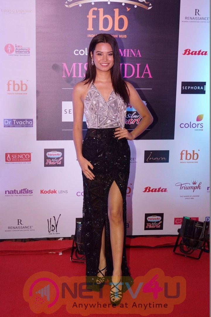 Neha Dhupia And Manushi Chhillar At Red Carpet Of Miss India Sub Contest Latest Images