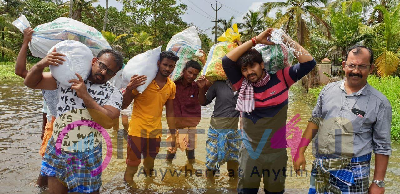 Actor Abi Saravanan Helps To Kerala Peoples Images