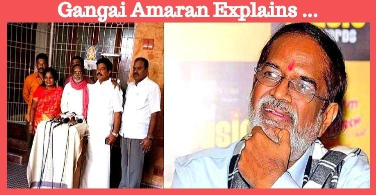 Gangai Amaran Explains Why He Didn't Contest In..