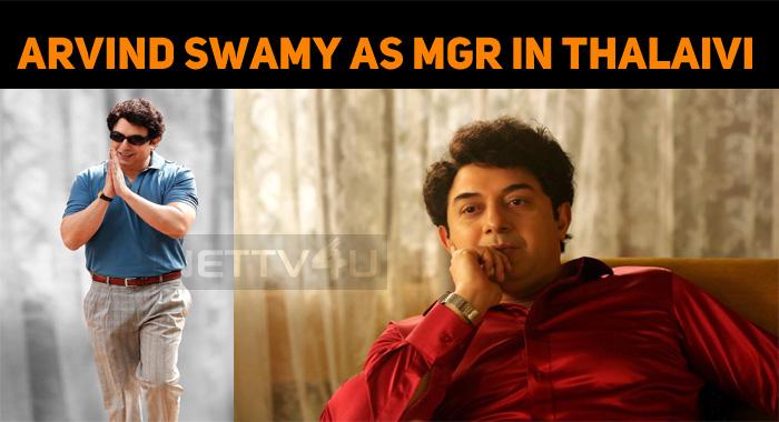 Arvind Swamy's Look In Thalaivi!