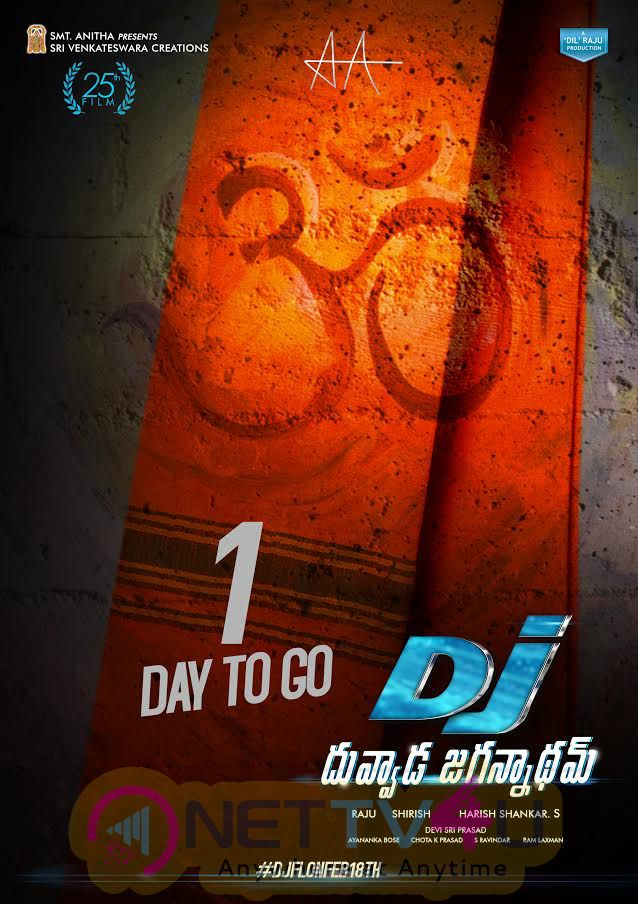 Stylish Star Allu Arjun & Powerful Director Harish Shankar's Duvvada Jagannadham 1 Days To Go Poster