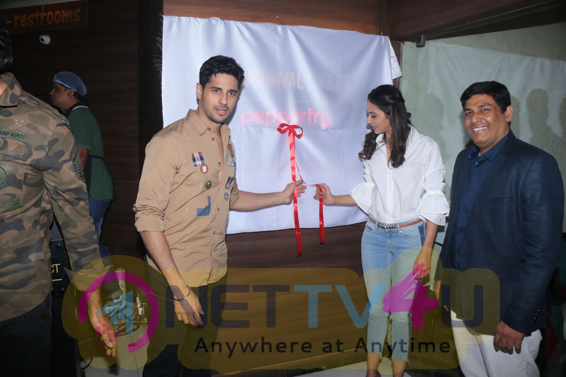 Sidharth Malhotra & Rakulpreet Singh At The Launch Of Carnival Cinema