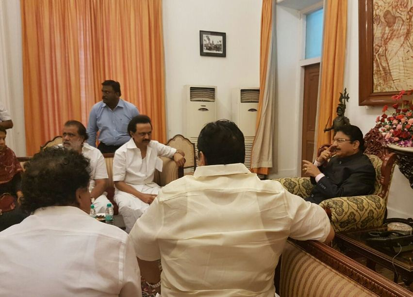 DMK People Start Protesting! Stalin Meets GUV!
