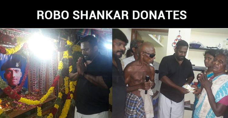 Robo Shankar Donates To CRPF Jawan Subramaniam'..