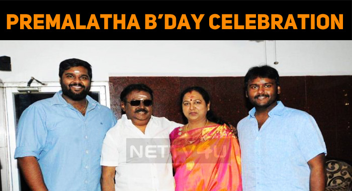 Premalatha Vijayakanth Celebrates Her Birthday ..