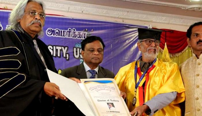 Vijay's Dad Gets An Honorary Doctorate From American University!