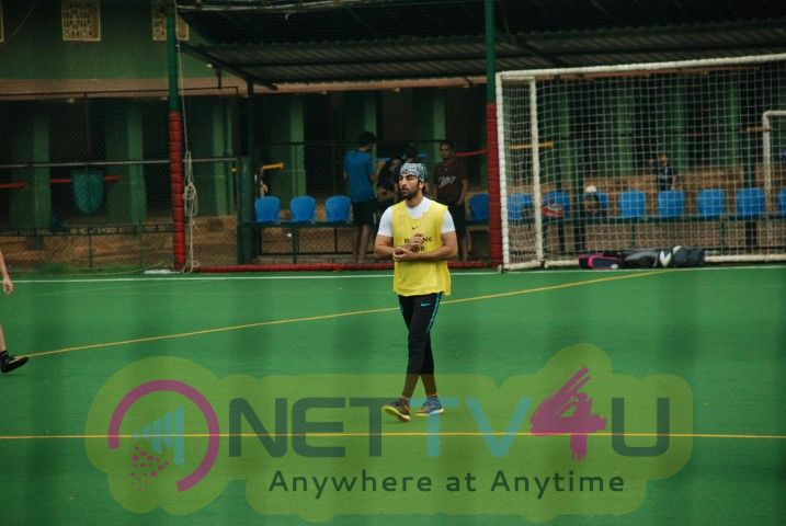 Ranbir Kapoor Spotted Playing Football In Bandra Best Images