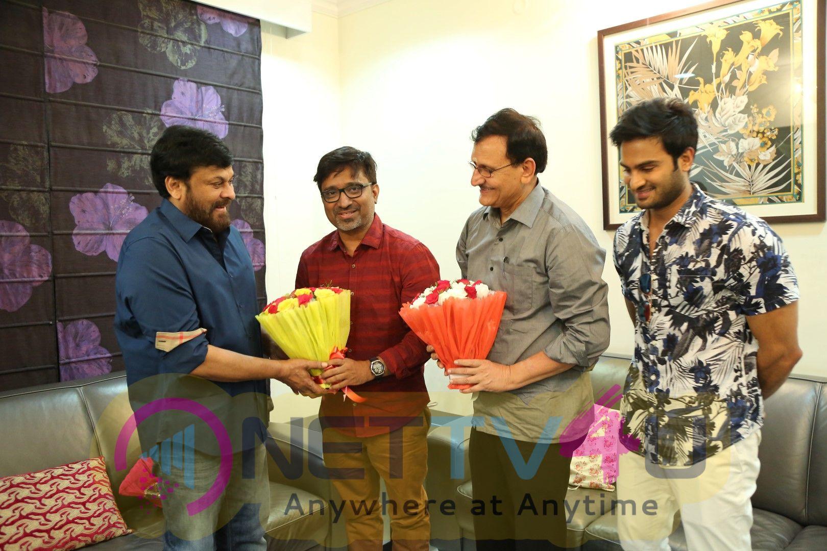 Sammohanam Team Celebrates Success Party With Megastar Chiranjeevi