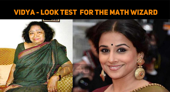 Vidya Balan Is On The Look Test For The Role Of..
