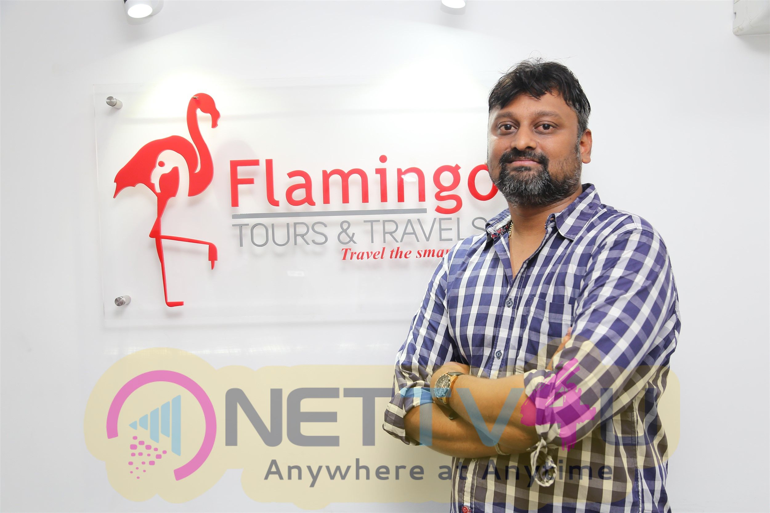 Actor Raghava Lawrence Inaugurated Flamingo Tour & Travels Images