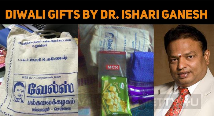 Ishari Ganesh's Diwali Gifts To Nadigar Sangam Members!