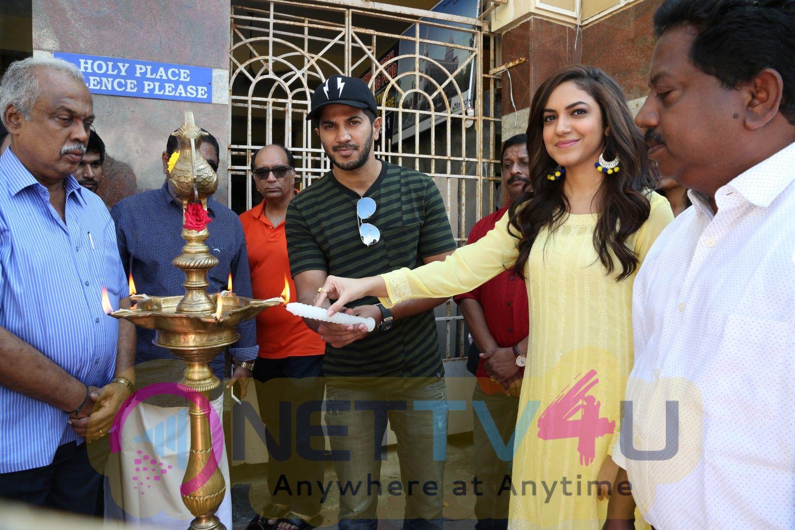 Kannum Kannum Kolaiyadhithaal Movie Pooja Pics