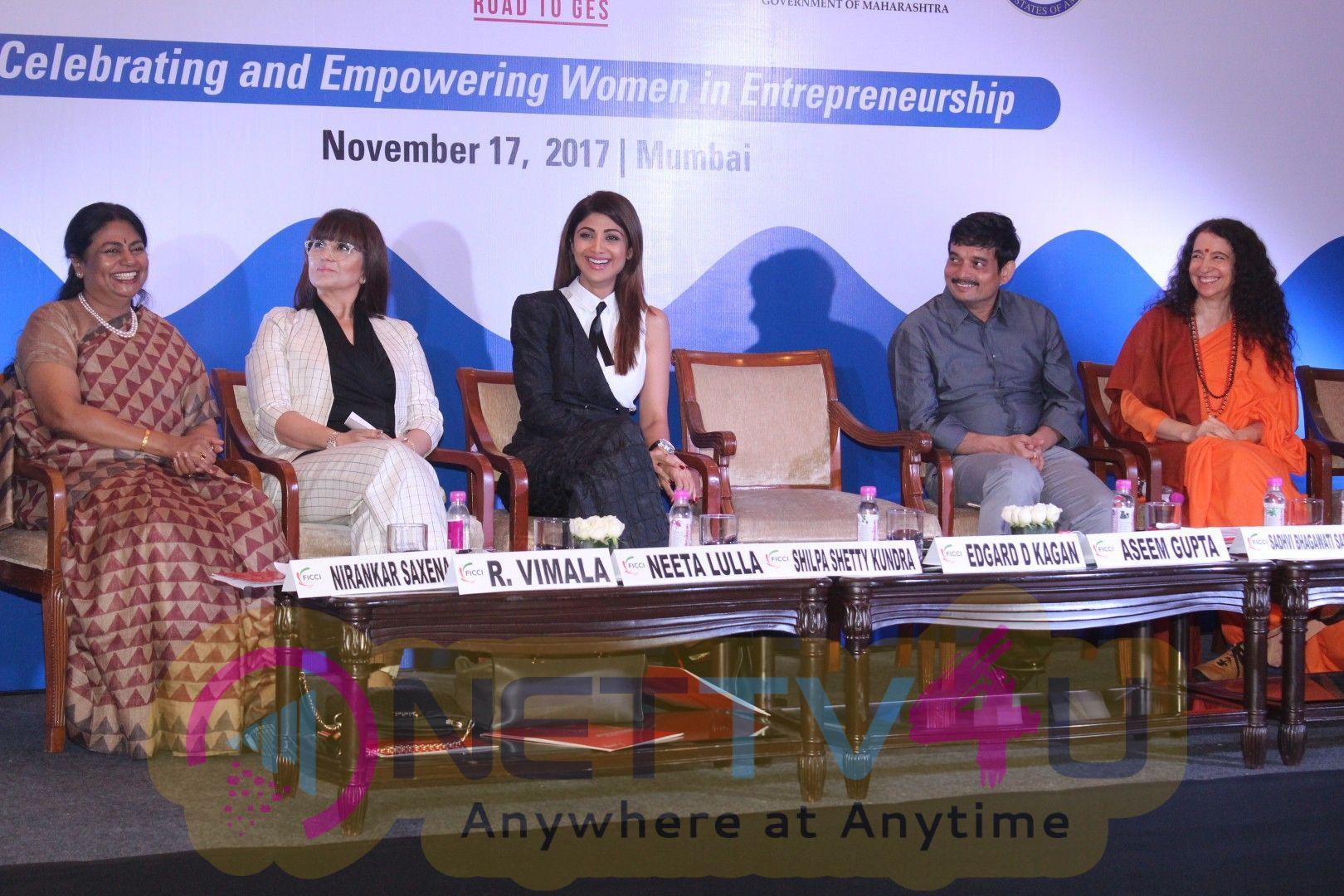 Shilpa Shetty At Global Entrepreneurship Summit 17 Host By FICCI  Stills