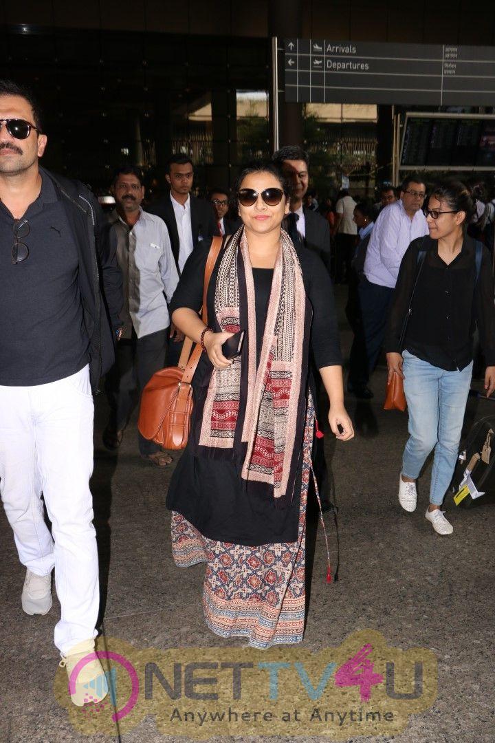 Vidya Balan, Amit Gaur & Kainaat Arora Spotted At Airport Images