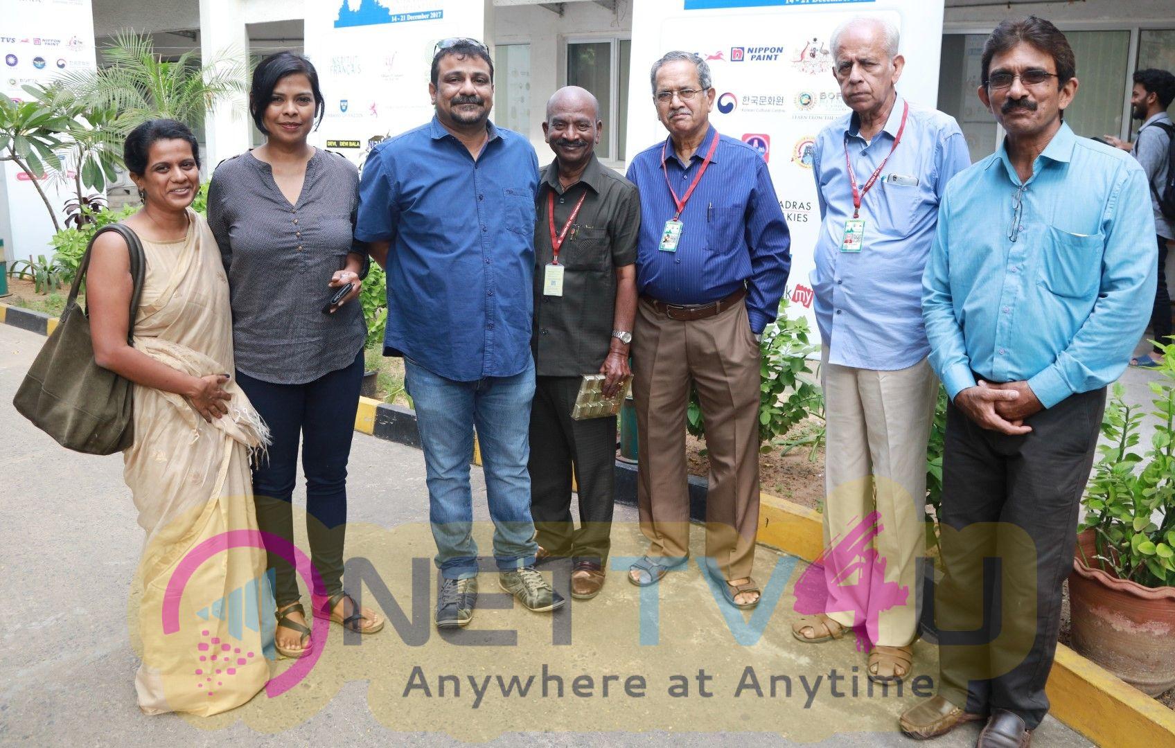 Vikram Vedha Directors Pushkar - Gayathri At 15th Chennai International Film Festival Pics