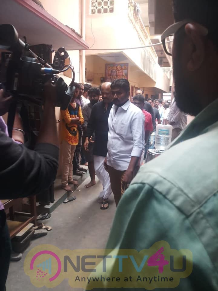 Rajinikanth Pays His Last Respects To His Evergreen Makeup Artist Muthappa  Tamil Gallery