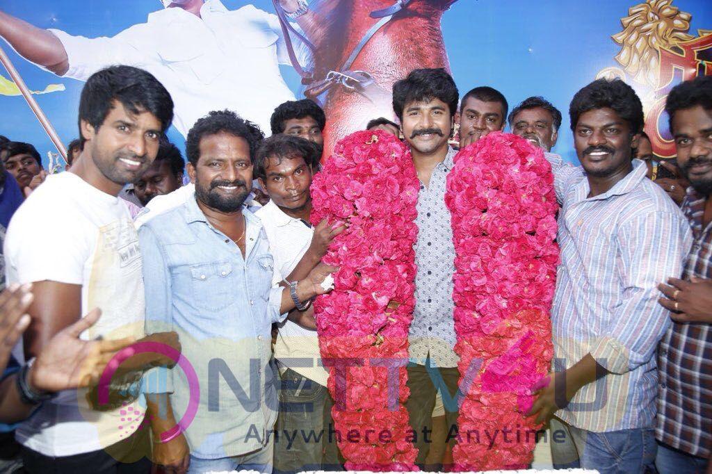 Actor Siva Karthikeyan Birthday Celebrations On The Sets Of Seemaraja Pics Tamil Gallery